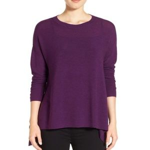 Eileen Fisher Elliptical Hem Merino Wool Sweater